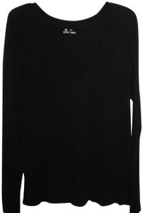 Susina Sleeve Pullover Cotton/Modal T Shirt Black