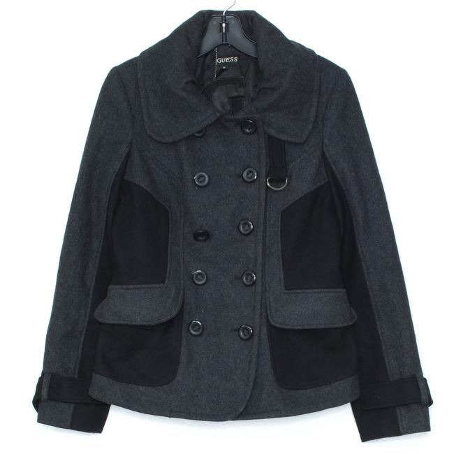 Guess Peacoat Wool Gray Jacket Image 0