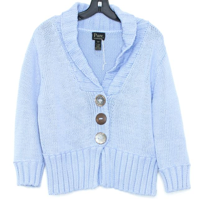Preload https://img-static.tradesy.com/item/26334687/pure-collection-blue-cardigan-size-6-s-0-1-650-650.jpg