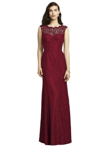 Dessy Red Lace 2940 Formal Bridesmaid/Mob Dress Size 8 (M)