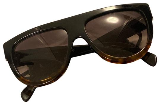 Preload https://img-static.tradesy.com/item/26334707/celine-black-and-brown-flattop-two-tone-shield-sunglasses-0-1-540-540.jpg