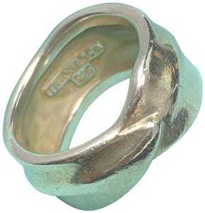 Tiffany & Co. TC086 Tiffany & Co. Leaf Band Nature Ring Leaves Size 6 Silver