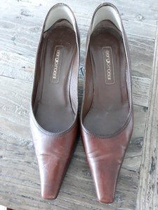 Sergio Rossi Chocolate Brown Pumps