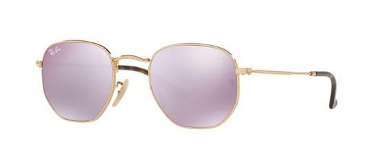 Ray-Ban Ray-Ban Lilac Mirror Hexagonal Flat lenses Sunglasses- RB3548N 001/80 Image 1