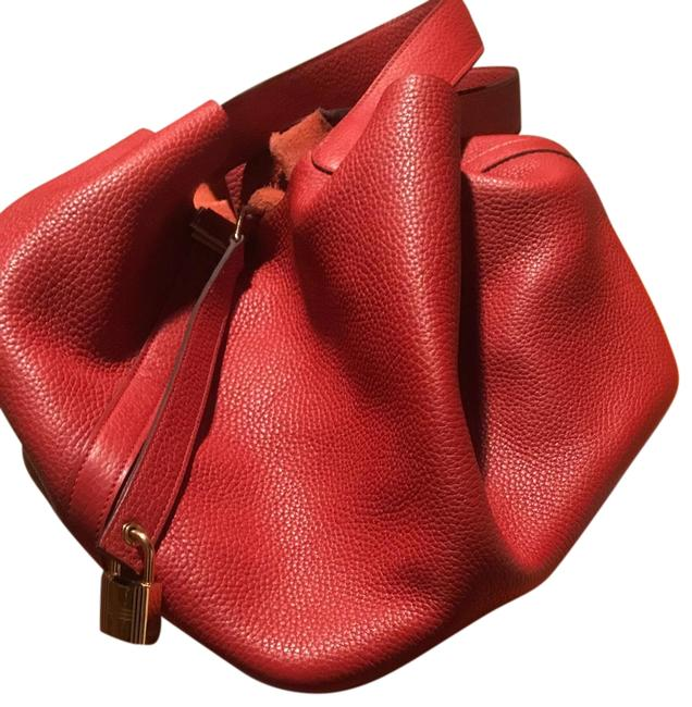 Item - Picotin Rouge Cadaque 26 Red Leather Tote