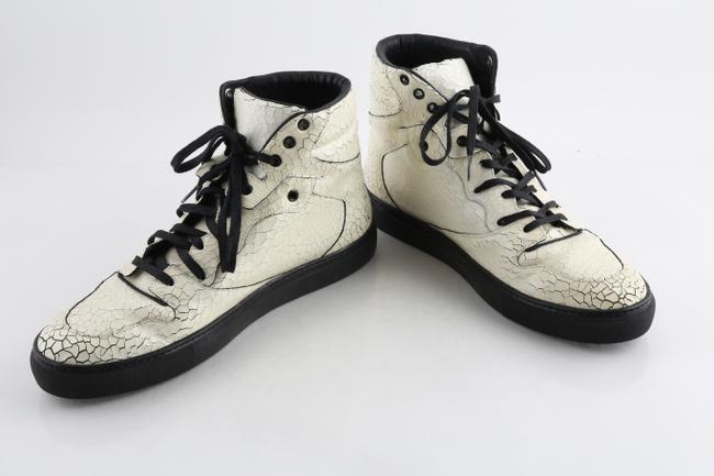 Item - Ivory Craquele High Top Sneakers Shoes