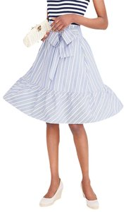 J.Crew Bow Tie Front Striped Flare Cotton Skirt