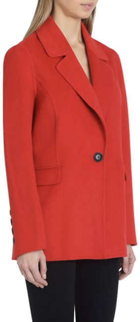 Badgley Mischka Red Double Face Wool Blazer Size 12 (L) Badgley Mischka Red Double Face Wool Blazer Size 12 (L) Image 1