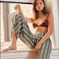 Free People Boho Wide Leg Pants Multicolor