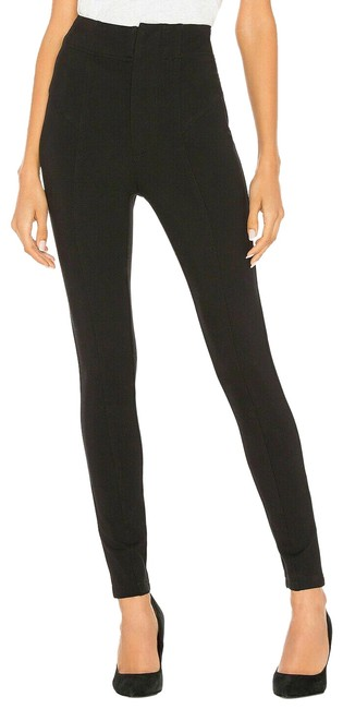 Item - Black Pants Flat Front Pull-on Stretch Ponti Women 2 Ne Skinny Jeans Size 25 (2, XS)