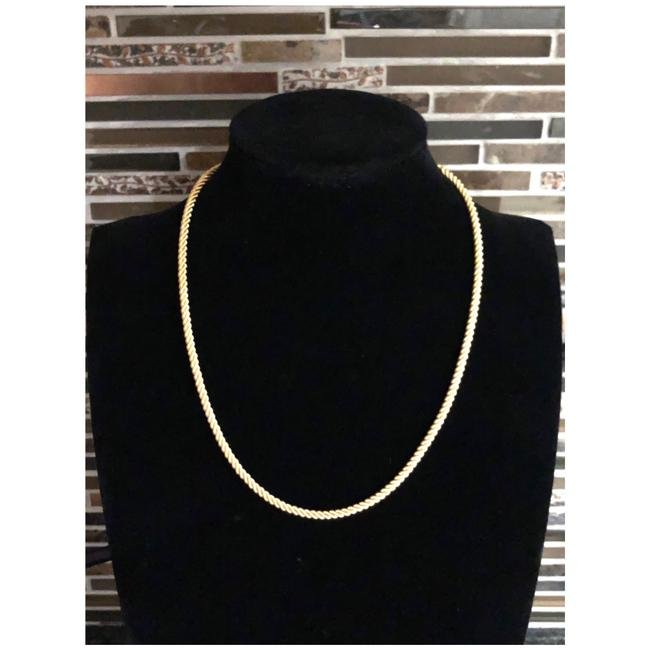 Item - Yellow Gold 14kt Twisted Rope Spiral Chain Necklace