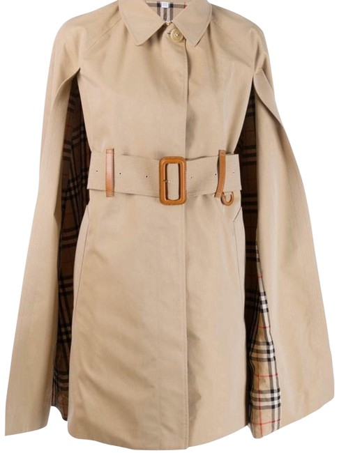 Item - In Stores Check Lining Belted Trench Coat Poncho/Cape Size 4 (S)