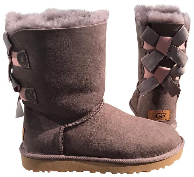 Item - Stormy Grey Bailey Bow Ii Shimmer Boots/Booties Size US 6 Regular (M, B)