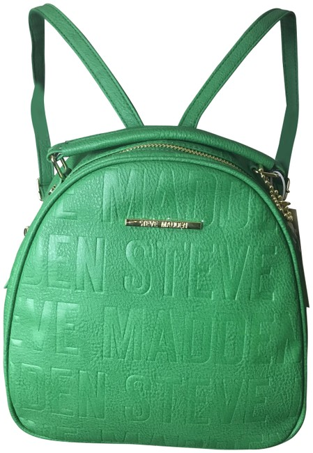 Item - Bjellee Green Faux Leather Backpack