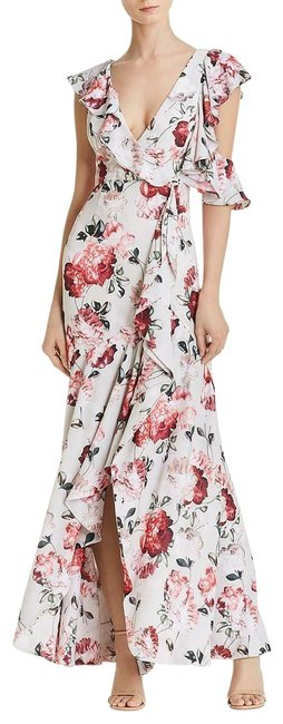 Item - Beckman Floral Georgette Ruffle Long Casual Maxi Dress Size 4 (S)