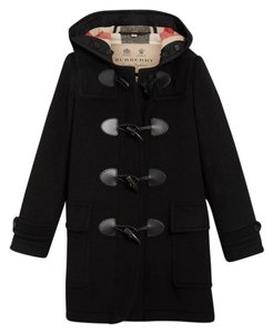 Burberry Duffle Wool Toggle Mersey Trench Coat