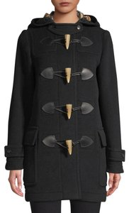 Burberry Duffle Wool Toggle Merton Trench Coat