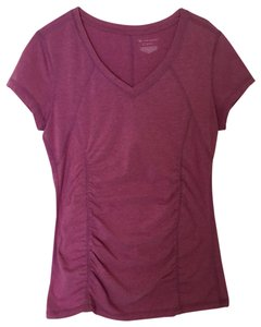 Tek Gear Polyester Cotton Spandex T Shirt Pink Plum