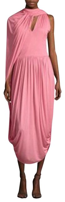Item - Pink Jersey By Phoebe Philo Runway Draped Cape Shawl Mid-length Cocktail Dress Size 8 (M)