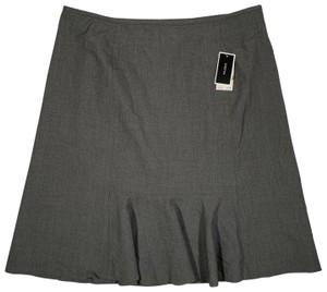 Nine West Polyester Skirt Gray