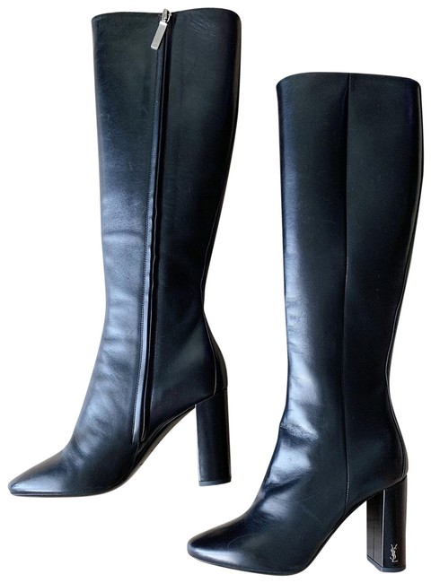 Item - Black Monogram Loulou Leather Knee Boots/Booties Size EU 35 (Approx. US 5) Regular (M, B)