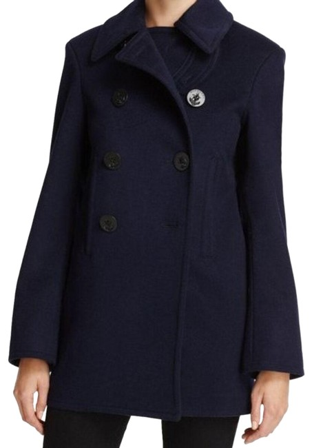 Item - Navy Kingsvale with Wool and Cashmere Coat Size 6 (S)