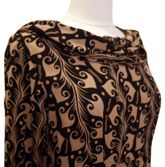 Item - Brown Winter Edition 2010 Scarf Detail Mid-length Night Out Dress Size 4 (S)