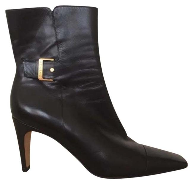 Item - Black W W/ Gold Buckle Boots/Booties Size US 9 Regular (M, B)