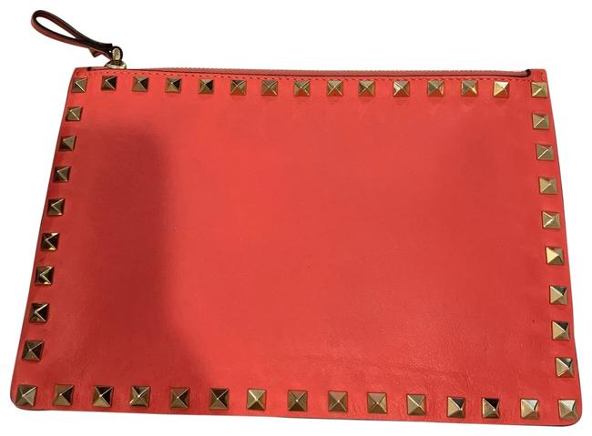 Item - Studded Pink Leather Clutch