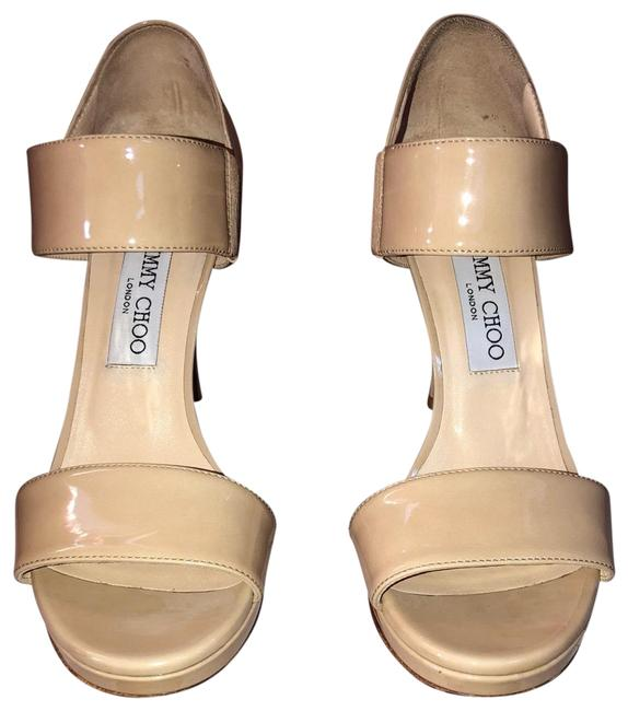 Jimmy Choo Nude Alana Heels Pumps Size US 7.5 Regular (M, B) Jimmy Choo Nude Alana Heels Pumps Size US 7.5 Regular (M, B) Image 1