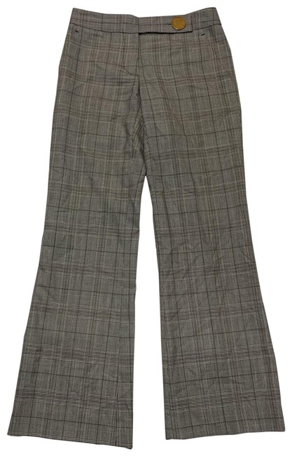 Tory Burch Checkered In Gray Pants Size 0 (XS, 25) Tory Burch Checkered In Gray Pants Size 0 (XS, 25) Image 1