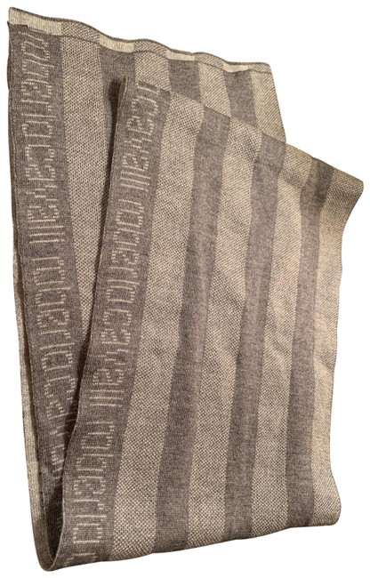 Item - Grey Logo Stripe Scarf/Wrap