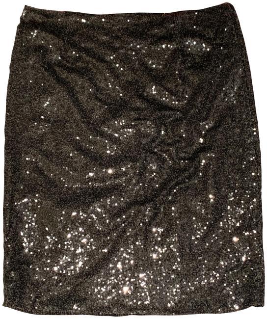 Item - Dark Gray Sequin Skirt Size 16 (XL, Plus 0x)