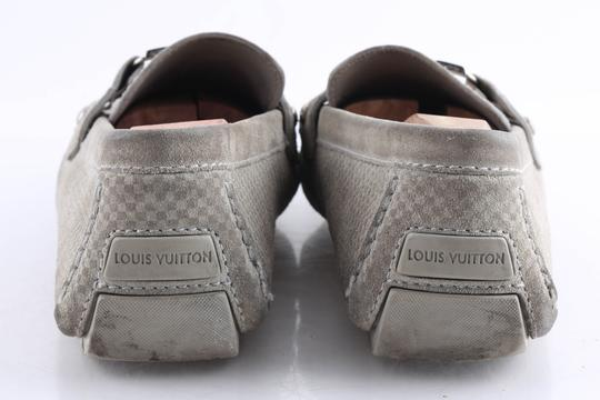 Louis Vuitton Gray Suede Checker Moccasin Loafers Shoes Image 5