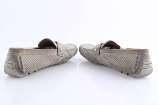 Louis Vuitton Gray Suede Checker Moccasin Loafers Shoes Image 8
