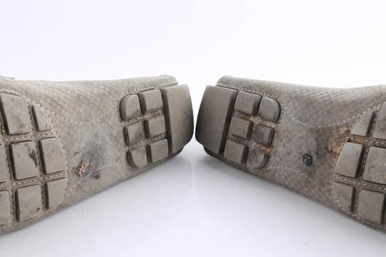 Louis Vuitton Gray Suede Checker Moccasin Loafers Shoes Image 9