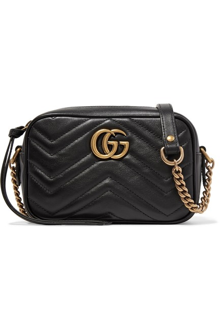 Gucci Marmont Gg Camera Mini Quilted Leather Shoulder Bag Gucci Marmont Gg Camera Mini Quilted Leather Shoulder Bag Image 1
