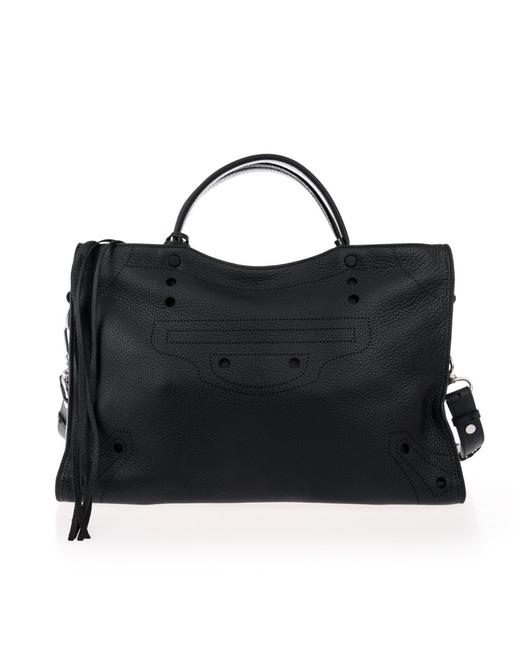 Balenciaga Blackout City Aj Tote Black Calfskin Leather Satchel Balenciaga Blackout City Aj Tote Black Calfskin Leather Satchel Image 1