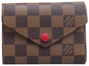 Louis Vuitton Brown Victorine Damier Ebene Canvas Wallet