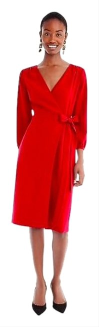 Item - Red Women's 365 Crepe Career Wear To Work H6292 Mid-length Formal Dress Size 0 (XS)