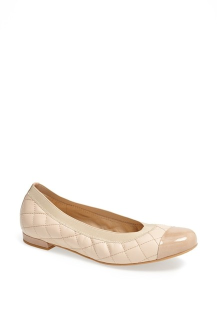 Item - Nude Quiltable Napa Leather Flats Size US 5.5 Regular (M, B)