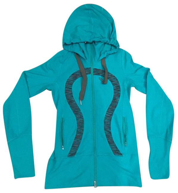 Item - Green/Turquoise Classic Zip Up In Green/Turquoise Activewear Outerwear Size 2 (XS)