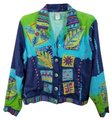 Coldwater Creek Colorful Embellished Embroidered Multicolor Womens Jean Jacket
