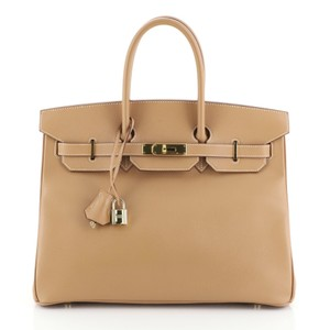 Hermes Courchevel Leather Satchel in Gold