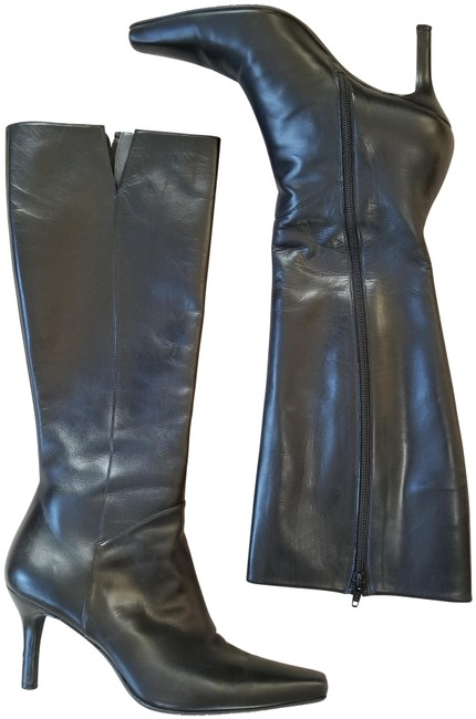 Item - Black Nicky Leather Tall Boots/Booties Size US 7.5 Regular (M, B)