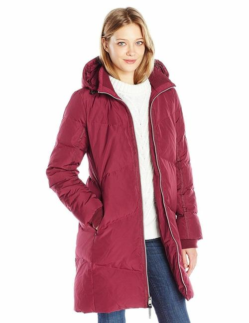 Item - Red Wont Let You Down Puffer Coat Size 0 (XS)