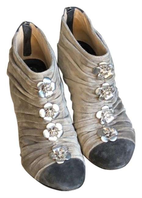 Chanel Brown Taupe Boots/Booties Size US 6.5 Regular (M, B) Chanel Brown Taupe Boots/Booties Size US 6.5 Regular (M, B) Image 1