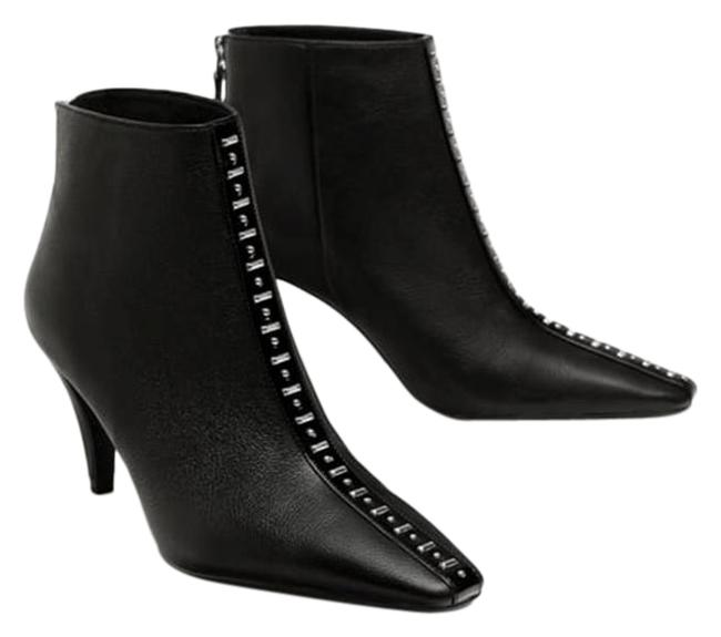 Item - Black High Heel Leather with Studs New Ankle Boots/Booties Size US 7.5 Regular (M, B)