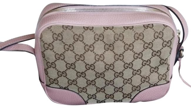 Item - Bree Mauve Pink and Canvas Gg Cross Body Bag