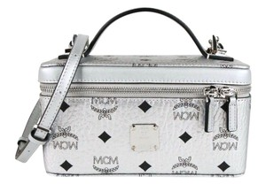 MCM Vanity Case Berlin Cosmetic Case Logo Visetos Cross Body Bag